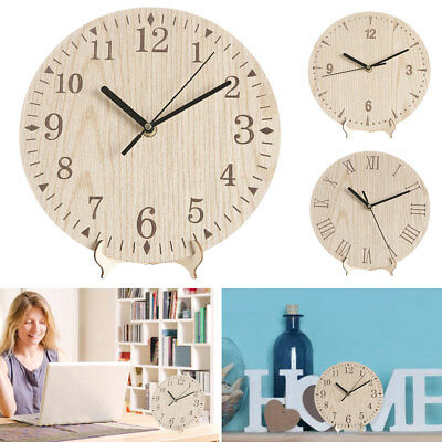 Vintage Wooden Wall Clock Chic Round Home Kitchen Office Living Room Decor