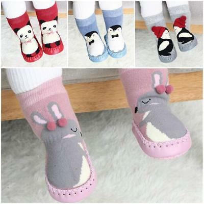 Infant Baby Girl Boy Toddler Anti-slip Warm Slippers Socks Cotton Crib Shoes