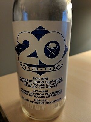1990 Pepsi Longneck Buffalo Sabres Hockey 20th anniversary commemorative bottle