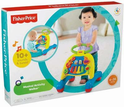 New Fisher-Price Grow with Me MUSICAL ACTIVITY WALKER Fun Baby to Toddler Toy