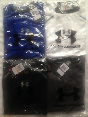 Under Armour HG Men's Long-Sleeve Top Size S/XXL, Blue/Black/Grey/White/Red/Navy