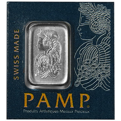 2  Pamp Suisse Platinum 1 Gram Bar Multigram .9995 Fine (In Assay)