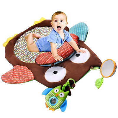 Cartoon Owl Baby Infant Tummy Time Crawling Play Mat Game Pad Pillow Toy Soft
