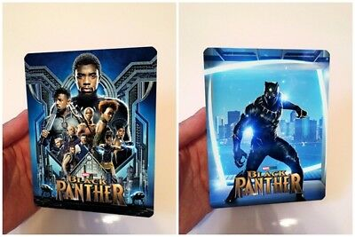 BLACK PANTHER Lenticular magnet cover with Flip effect for Steelbook v4