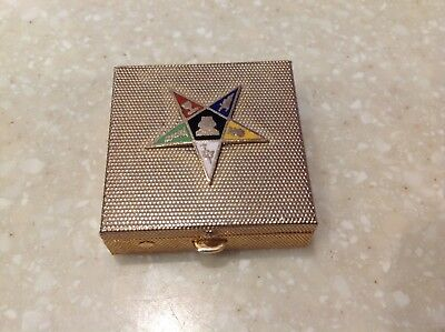 Vintage Order of the Eastern Star Pill Box