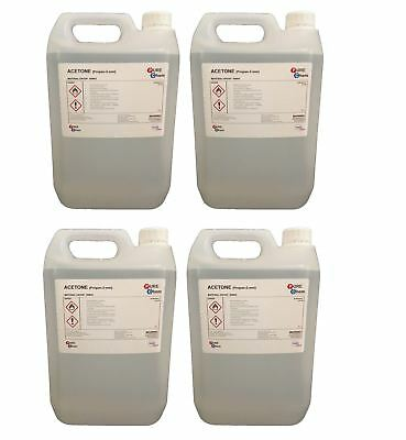 5L Pure Acetone Containers - Acrylic Nail Remover Nail Polish Remover 99.8% X2