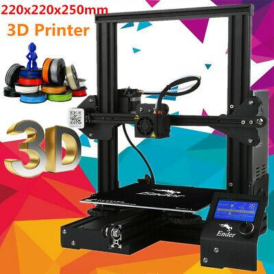 Creality3D Ender-3 Impresora 3D DIY Kit Prusa I3 V-slot MK10 220x220x250mm HOT!