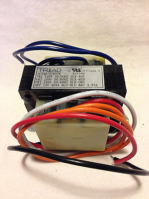 Transformer Triad Magnetics TCT40-07E07K Class 2 Power Control Transformer 12V
