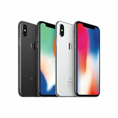 Apple iPhone X - 64GB - 256GB - Unlocked - Locked - Space Grey/Silver