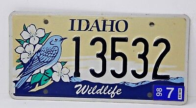 IDAHO License Plate Collectible Specialty Wildlife Bluebird Flowers