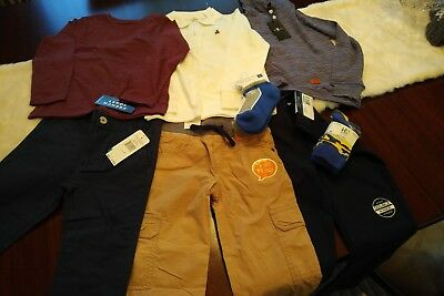 NWT Boys 5T Lot - Gymboree, 7 for all Mankind, Penguin, Gap & Nautica