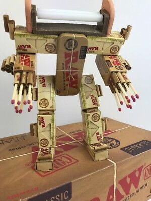 Unique Stoner Art RawBot Statue Authentic Raw Rolling Paper Products Mechwarrior