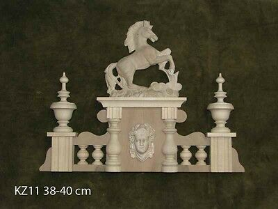Solid wood hood / Crown to the antique clock No 11 with horse