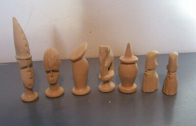 African chess set latex moulds