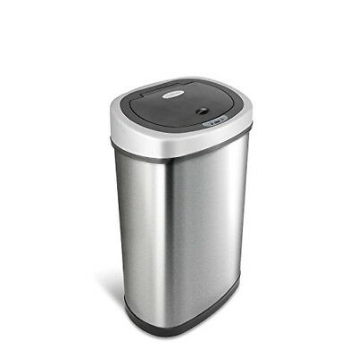 Touchless Trash Garbage Can Motion Sensor Automatic Lid Kitchen 13 Gal Stainless