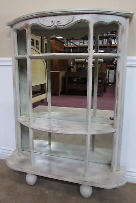 Half Moon Demi Lune Shelves, Credenza, Etagere, Curio Display Console Solid Wood