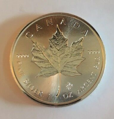 2018 1oz Silver Maple Leaf Incuse With Coin Capsule
