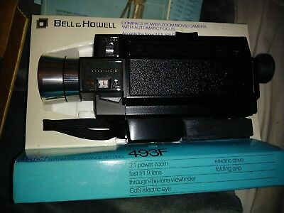Vintage Bell & Howell 493F 493 Autoload Super 8 Film Camera