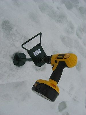 ice kicker 1 adapter w / handle for ice fishing hand powered augers