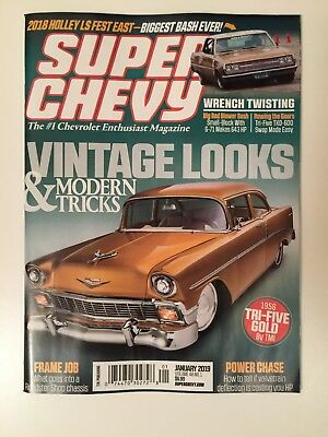 Super Chevy latest issue JANUARY 2019 + wall Calendar