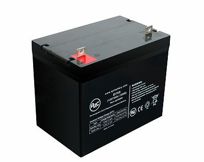 WKDC12-80P 12V 75Ah Wheelchair Battery - This is an AJC Brand Replacement