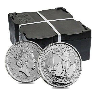 Monster Box of 500 - 2019 Great Britain 1 oz Silver Britannia Coin .999 Fine BU