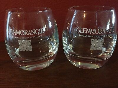 Stunning Pair Glenmorangie Single Malt Scotch Whiskey Gles Heavy Tail Bar
