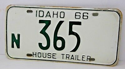 1966 IDAHO License Plate Collectible Antique Vintage Famous Potatoes N 365