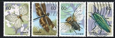 Japan 1986 Insects Series 3 set of 4 Fine Used
