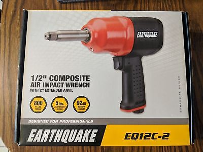 EARTHQUAKE 1/2 in. Heavy Duty Composite Air Impact Wrench with 2 in.Anvil EQ12C2