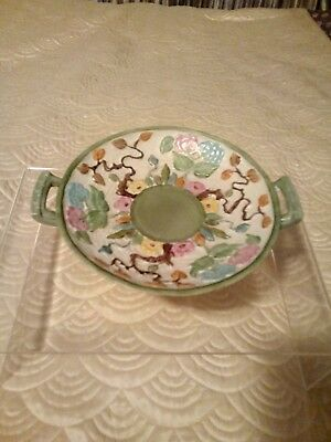 Indian Tree Handpainted H J Wood Round Pedestal Dish