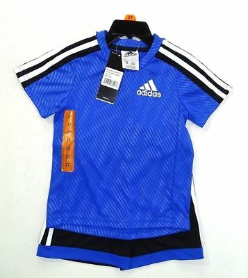 Adidas 2 Piece Active Set for Boys - T-Shirt, Short,  Brigth Blue  Size 2T