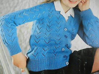"Lady/'s Lacy Summer Sweater DK 30-40/"" Vintage Wendy 2424 Knitting Pattern"