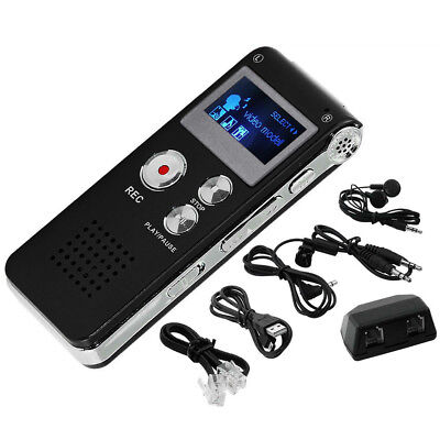Rechargeable Digital MP3 Player Audio Voice Recorder Spy Dictaphone Radio New US