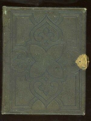 11850s FINE GREEN LEATHER PHOTO ALBUM BROOKLYN NEW YORK WITH 13 CDVs  7 TINTYPES