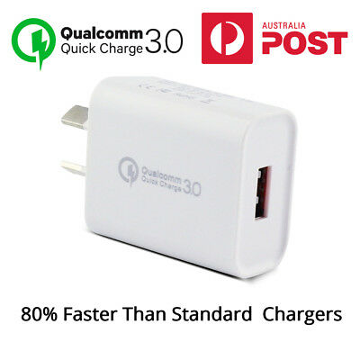 Super Fast USB Wall Charger Mobile Phone Charger, Qualcomm QC3.0, iPhone/Samsung