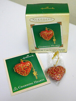 2004 Hallmark Charming Hearts miniature ornament EUC
