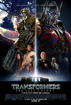 TRANSFORMERS THE LAST KNIGHT MOVIE POSTER 2 Sided ORIGINAL FINAL 27x40