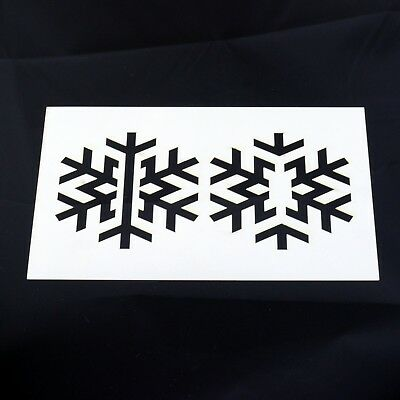 Snowflake Stencil MYLAR Sheet 190 Micron Reusable Plastic Craft Stencil