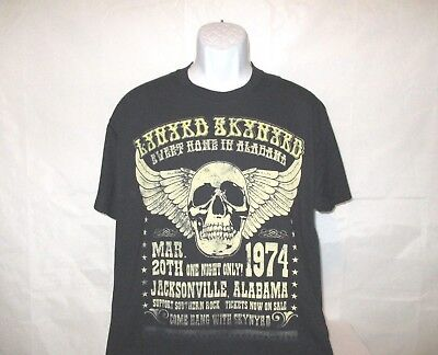318f7e71 Lynyrd Skynyrd Sweet Home Alabama Retro 1974 Black T-Shirt - Adult Large NEW