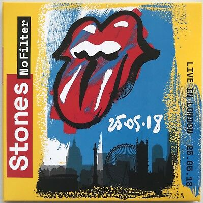 THE ROLLING STONES LIVE IN LONDON 25. 05. 2018 No Filter Tour 2CD set digisleeve