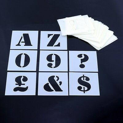 Alphabet Stencil Letters & Numbers MYLAR Sheet 190 Micron Reusable Plastic Craft