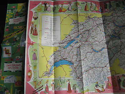 Vintage Shell Map Of Switzerland