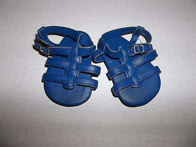 "Navy Strappy Sandal Shoes made for 18"" American Girl Doll Clothes New"
