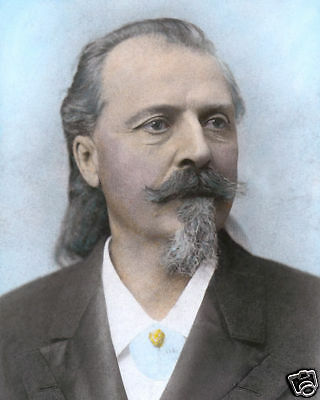 "WILLIAM F ""BUFFALO BILL"" CODY WESTERN LEGEND 8x10"" HAND COLOR TINTED PHOTOGRAPH"