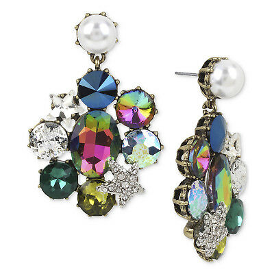 26b8348356feb BETSEY JOHNSON CRYSTAL Mystic Baroque Queens Womens Chandelier Earrings NWT