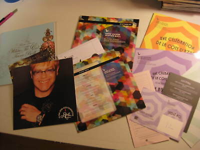 Elton John AIDS Foundation 3 private party programs Grey Goose White Tie Tiara