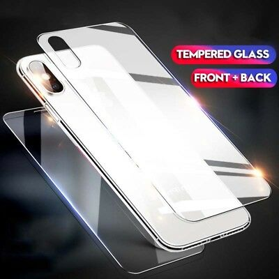 Full Body Front+Back Tempered Glass For Apple IPhone XR XS MAX Screen Protector