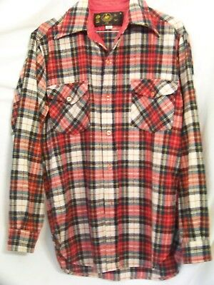 Vintage Mens Swanndri virgin wool plaid shirt size S/M