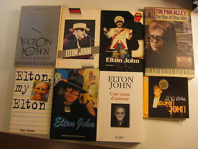 Elton John mini library of 8 biographical books SUPER collection 1989-2013